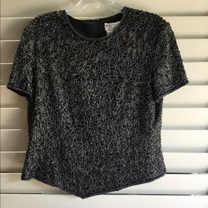 Sequin and beaded TOP